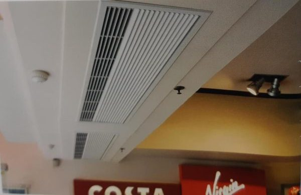 Recessed air curtains